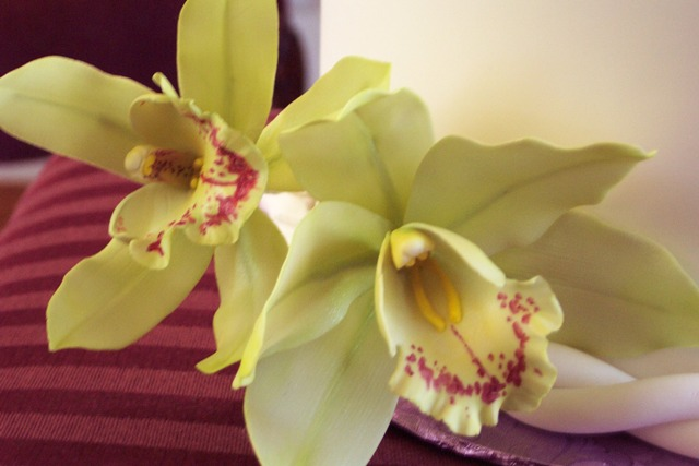 green cymbidium gum paste